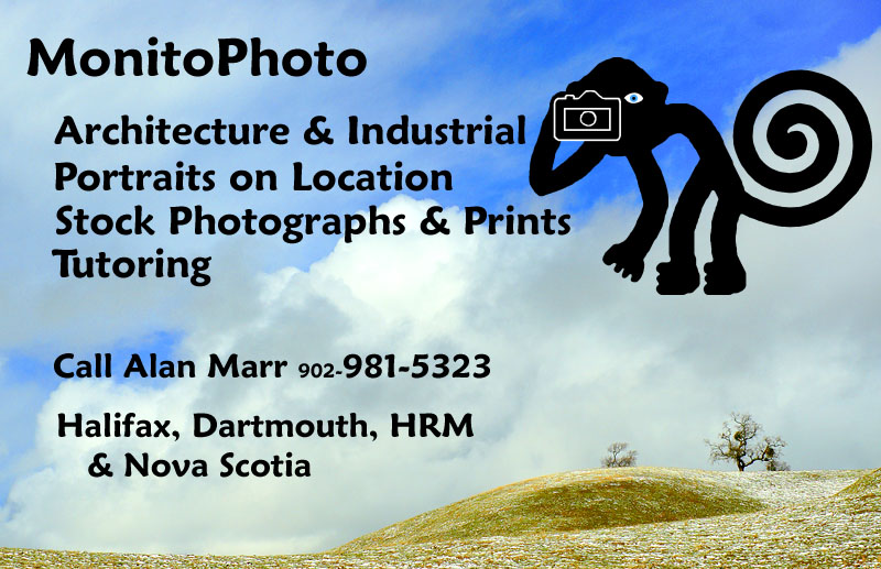 Alan Marr, MonitoPhoto: Architecture, Portraits on Location,  Stock Photos and Prints, Tutoring: Halifax, Dartmouth, HRM & Nova Scotia
