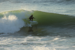Surfer Rides the Pocket at Steamer Lane, Santa Cruz