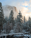 El Capitan across the Merced River in Yosemite Park