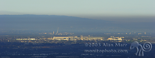 Mountain View, Palo Alto, Stanford, and NASA Ames Research Center in morning 2005