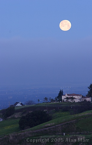 Moon over San Francisco Bay Area