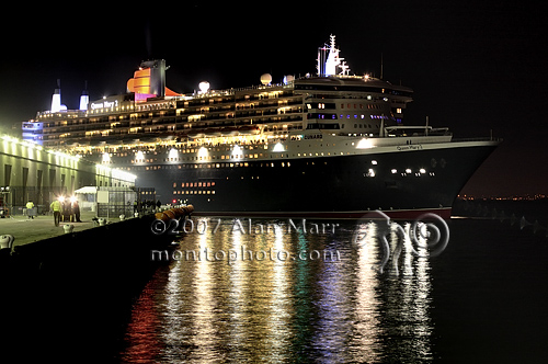 Queen Mary 2 Ocean Liner Docking at San Francisco