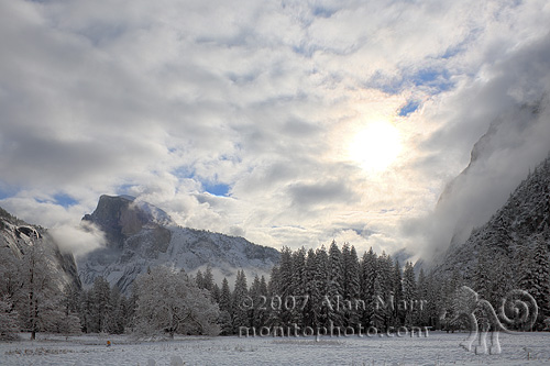 Cook's Meadow in Yosemite National Park after a Snow Storm