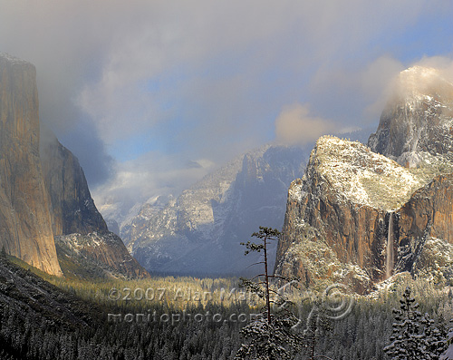 Yosemite Valley with Storm Clouds Clearing